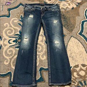 Silver women's Jeans size 31/31-NWOT
